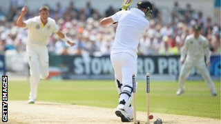 Kevin Pietersen is bowled