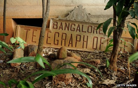 "Old sign ""Bangalore Telegraph Office"""