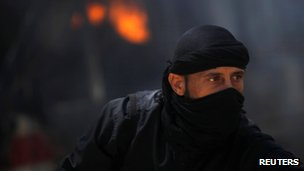 Al-Nusra Front fighter in Raqqa province, east Syria, on 12 May 2013