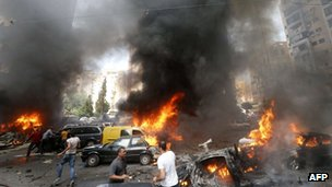 Car bombing in Beirut, Lebanon, on 9 July 2013