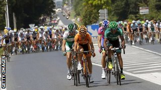 The breakaway group on stage 13