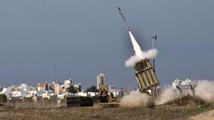 Iron Dome missile launch, Ashdod