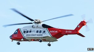 The Shannon Rescue helicopter