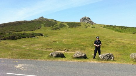 Policeman at Haytor