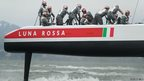 Crew members of the Luna Rossa Challenge