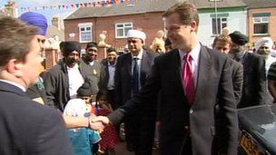 Nick Clegg in the East Midlands
