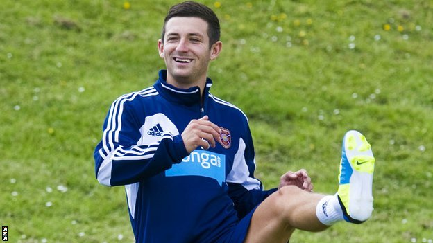 Hearts midfielder Jason Holt