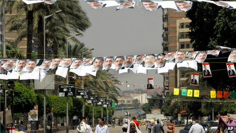 Supporters of Mohammed Morsi in Cairo on 12 July 2013