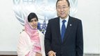 Malala Yousafzai meets The Secretary General Ban Ki-moon