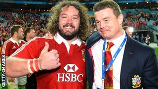 Adam Jones and Brian O'Driscoll