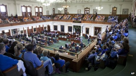 Gallery of Texas senate fills to capacity for debate on abortion bill, Austin, Texas (12 July)
