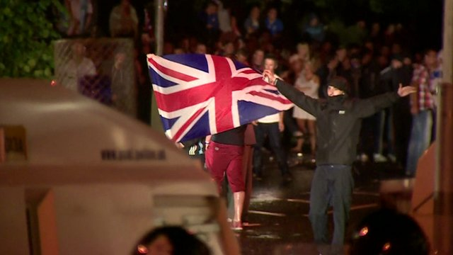 Clashes with police in Belfast