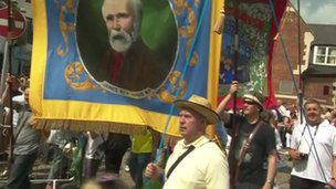 Procession before Durham Miners' Gala