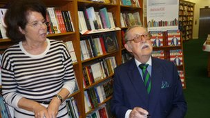 Valerie and Alan at a book signing