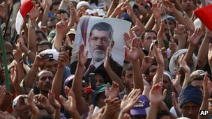 Pro-Morsi protest in Cairo, Egypt (9 July 2013)