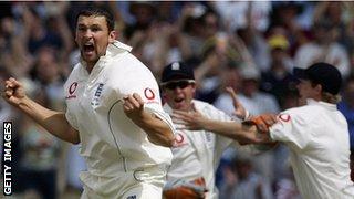 England v Australia in 2005