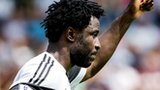 Wilfried Bony makes his Swansea City debut