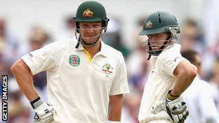 Australia openers Shane Watson and Chris Rogers