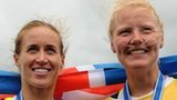 Helen Glover (left) and Polly Swann