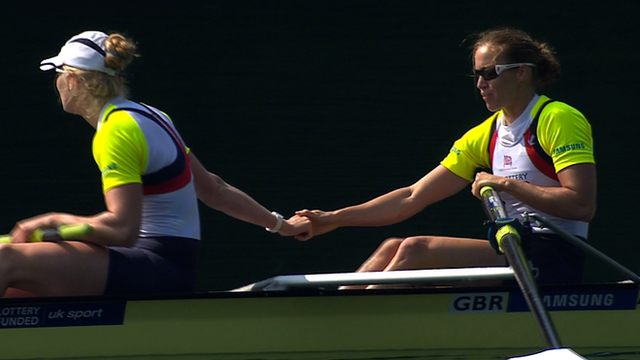 Polly Swann & Helen Glover (right)
