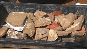 Medieval floor tiles found in archaeological dig at Petworth House