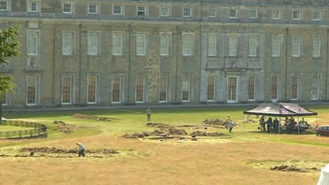 The archaeological dig at Petworth House
