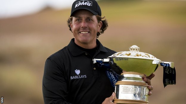 Scottish Open winner Phil Mickelson