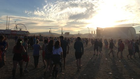 Sunset on the final day at T in the Park