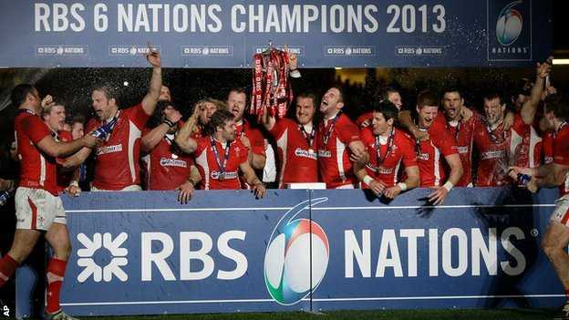 Wales lift the Six Nations trophy