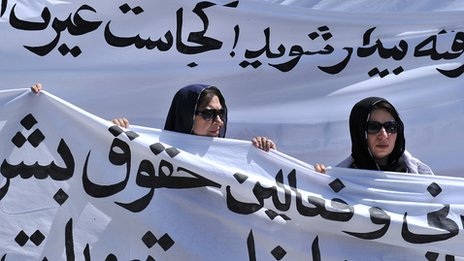 Protest against public execution of a young woman for alleged adultery - 2012