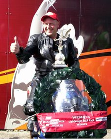 Mr Johnson won the Manx Grand Prix Lightweight race in 2012