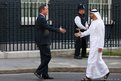 Britain's Prime Minister David Cameron greets the Crown Prince of Abu Dhabi, Sheikh Mohammed Bin Zayed Al-Nahyan, in Downing Street
