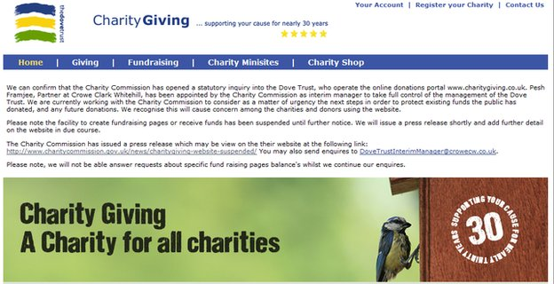 charitygiving.co.uk website
