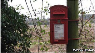 Brampton village postbox
