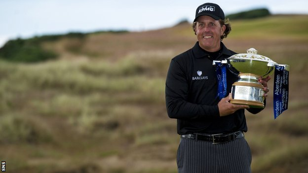 Scottish Open champion Phil Mickelson