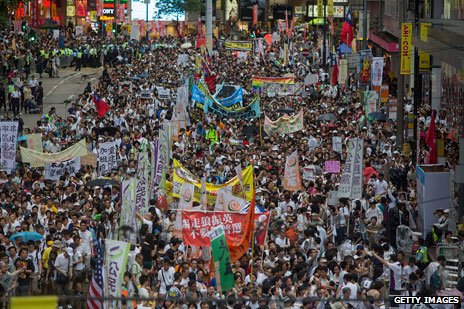 1 july protest, hong kong 2013