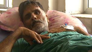 Bomb blast survivor Mohammed Shaheen