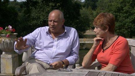 Eddie Shah and his wife Jennifer