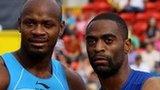 Asafa Powell and Tyson Gay