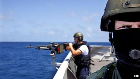 Dutch frigate HMS Evertsen takes part in the Operation Atalanta, a campaign from the European Union to stop piracy off the Somali Coast - 2009