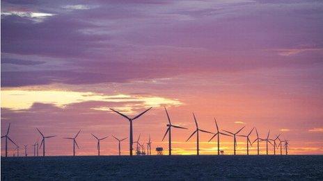 Wind farm in Barrow in Furness