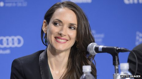 Winona Ryder at a press conference