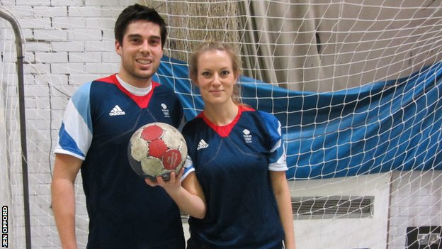Handball player Seb Prieto with Jen Offord