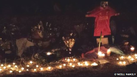 Candlelit vigil at Gullet Quarry