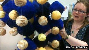 Julia Percival assembles a knitted perovskite molecule