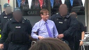 Willie Frazer arrested