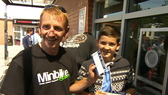 Excited fans with tickets for Real Madrid friendly