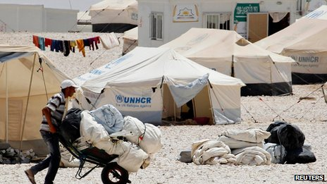 Refugee camp in Jordan on 20 June 2013