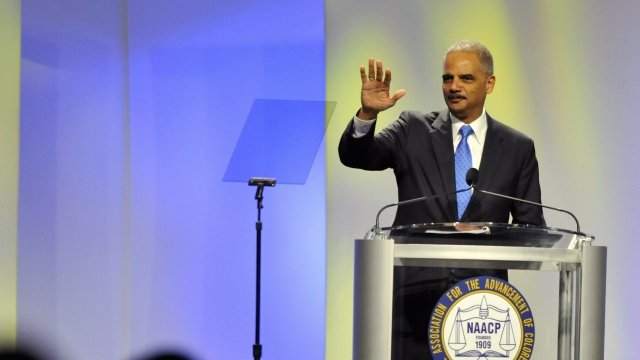 Attorney General Eric Holder speaks to the National Convention of the NAACP
