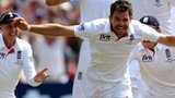 James Anderson celebrates England's win in the first Test